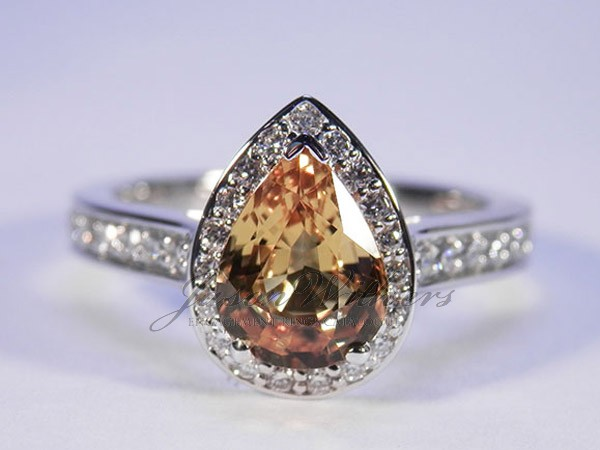 1.50Ct. Pear Yellow Ring
