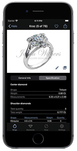 "Mobile app ""Engagement Rings"" for iPhone"
